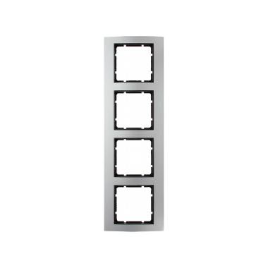 berker 10143004 b3 rahmen 4fach aluminium hier g nstig kaufen. Black Bedroom Furniture Sets. Home Design Ideas