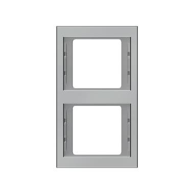 Berker K.5 Rahmen 2-Fach senkrecht Edelstahl Rostfrei 13237004 2fach Abdeckung