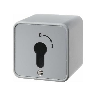 berker 4466 druckguss ip44 schl sselschalter 16a f r aufputz aluminium. Black Bedroom Furniture Sets. Home Design Ideas