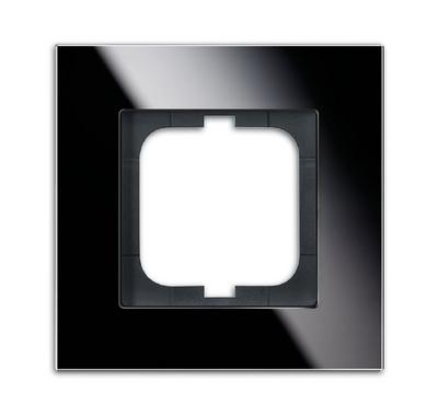 busch jaeger 1721 825 carat rahmen 1fach glas schwarz. Black Bedroom Furniture Sets. Home Design Ideas