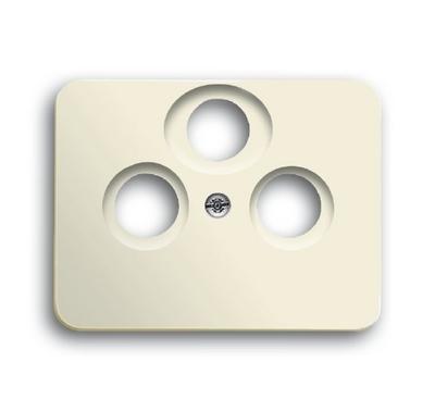 busch jaeger 1743 03 22g alpha antennensteckdose abdeckung elfenbeinwei. Black Bedroom Furniture Sets. Home Design Ideas