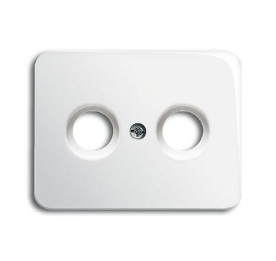 busch jaeger 1743 24g alpha antennensteckdose abdeckung alabaster. Black Bedroom Furniture Sets. Home Design Ideas