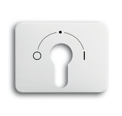 busch jaeger 1755slpz 24g 101 alpha schl sselschalter abdeckung alabaster. Black Bedroom Furniture Sets. Home Design Ideas