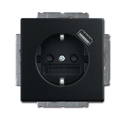 Bevorzugt Busch-Jaeger 20EUCBUSB-885 Future linear USB Steckdose schwarz matt IE28
