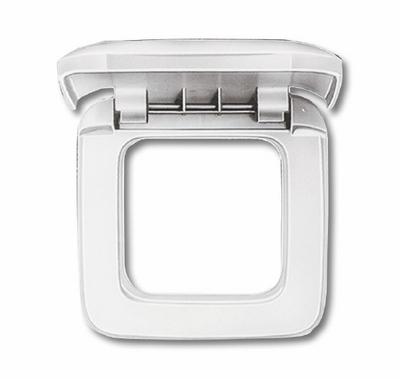 busch jaeger 2518 214 reflex si rahmen 1fach mit klappdeckel alpinwei. Black Bedroom Furniture Sets. Home Design Ideas
