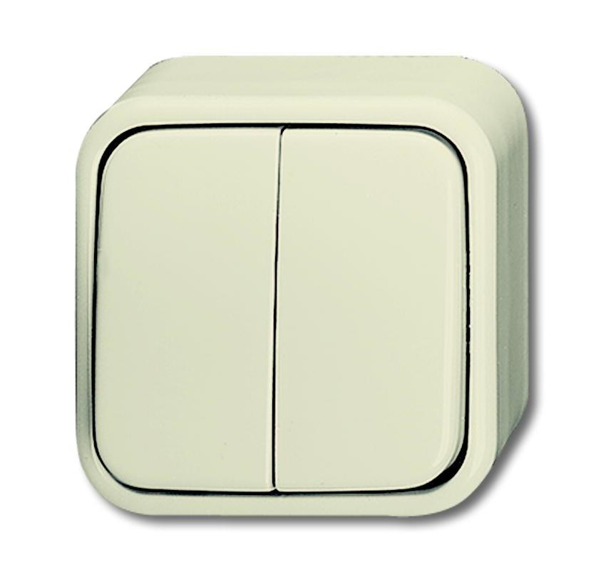 busch jaeger 2601 5ap duro2000 ap wippschalter 10a serienschalter wei. Black Bedroom Furniture Sets. Home Design Ideas