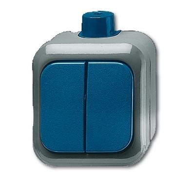 busch jaeger 2601 5wdi duro2000 wdi wippschalter serienschalter blau. Black Bedroom Furniture Sets. Home Design Ideas