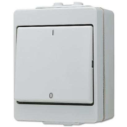 jung 603w wg600 wippschalter 16a 400v 3polig ausschalter grau. Black Bedroom Furniture Sets. Home Design Ideas