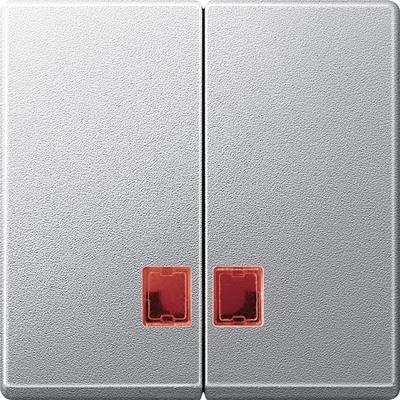 Merten MEG3456-0460 System M Doppelwippe aluminium matt